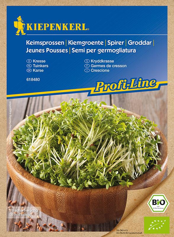 Bio Keimsprossen * Kresse * Lepidium sativum Kiepenkerl 618480