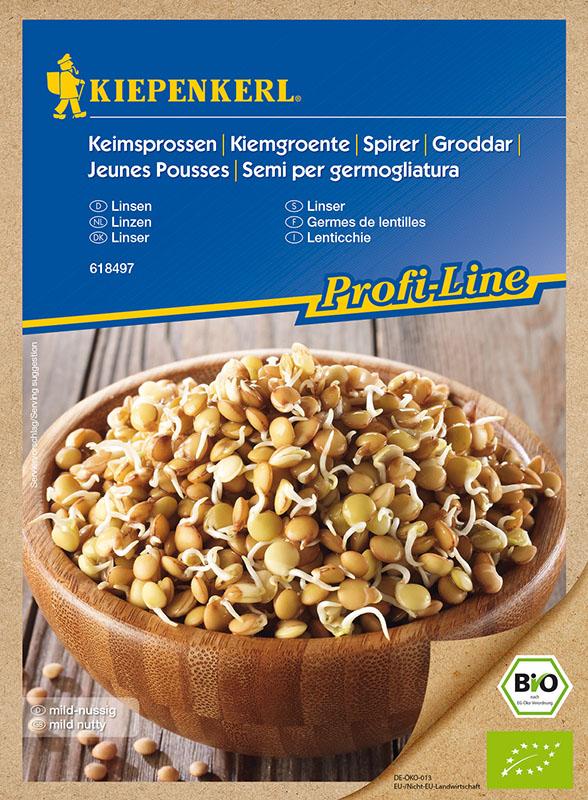 Bio Keimsprossen * Linsen * Lens culinaris Kiepenkerl 618497